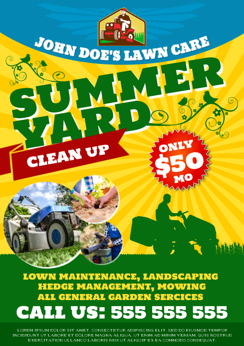 LAWN SERVICE POSTER