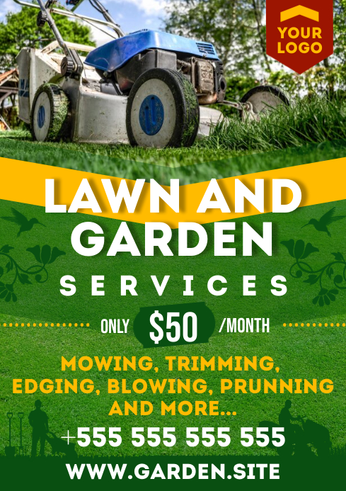 LAWN SERVICE POSTER A4 template