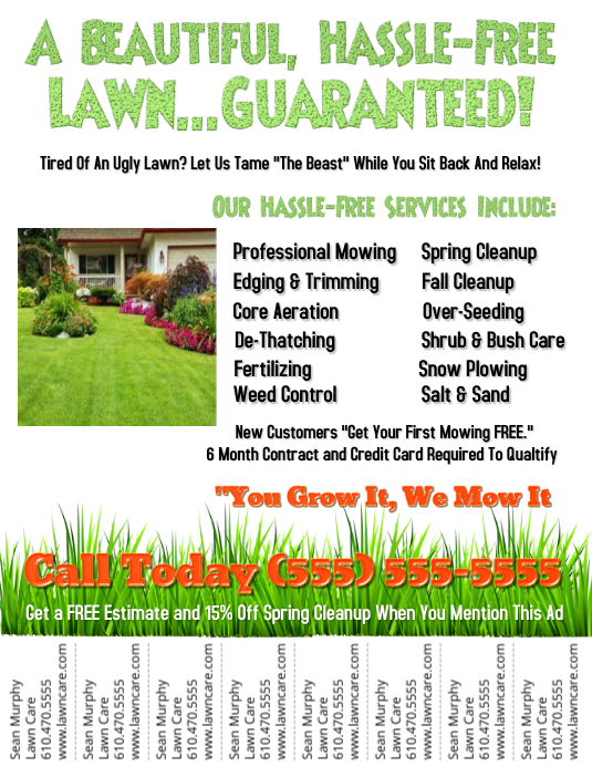 Lawn service template postermywall for Lawn care flyer template free