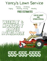 Lawn Service Flyer Template Free Gandafullring