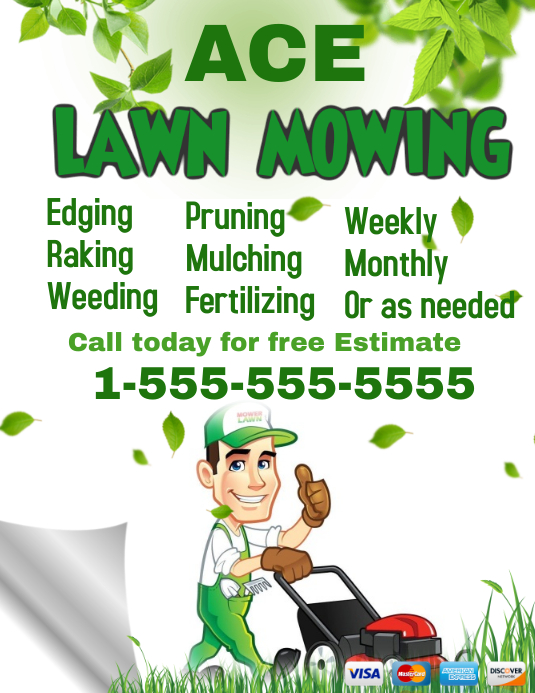 Lawn Service template Flyer (US Letter)