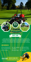 Lawn Service Roll Up Banner design template