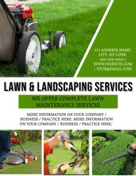 Lawn services Company Flyer Template