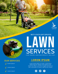 lawn services Pamflet (Letter AS) template