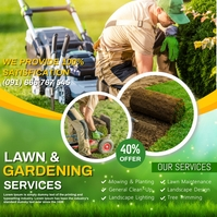 Lawn services Message Instagram template
