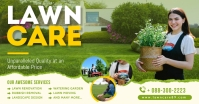 Lawn services facebook promotion banner template