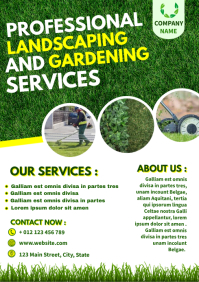 lawn services flyer design template A4