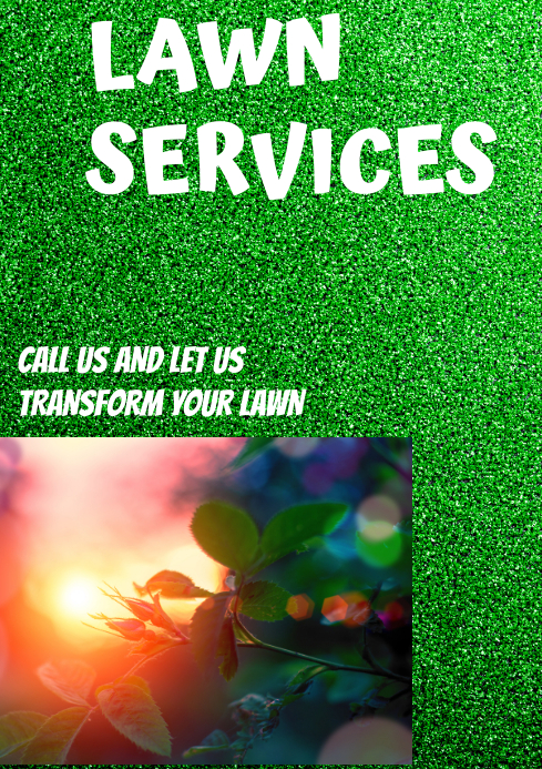 LAWN SERVICES TEMPLATE A4