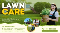 Lawn services twitter promotion post template