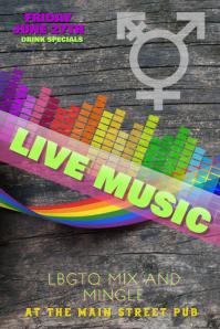 LBGTQ Lesbian Mixer Night Flyer template