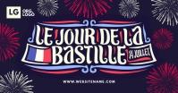 Le Jour De La Bastille Post Template รูปภาพที่แบ่งปันบน Facebook