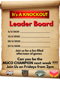 Leader Board Its a Knockout Poster template