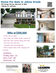 Leaders Realty Listing Flyer