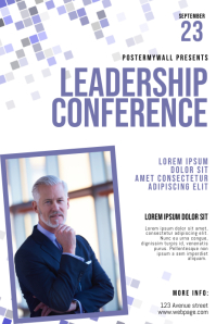 Leadership conference flyer template