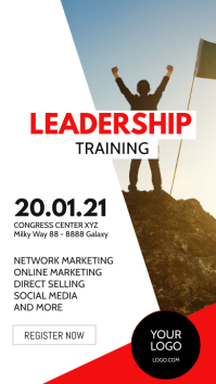 Leadership Flyer Workshop Training Education Instagram Story template