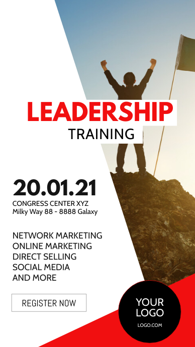 Leadership Flyer Workshop Training Education Instagram na Kuwento template