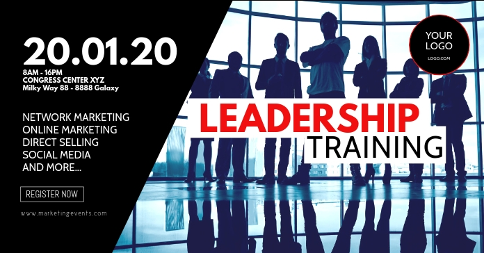 Leadership Training Workshop Seminar Network Facebook-annonce template