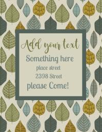 leaf Flyer (US Letter) template