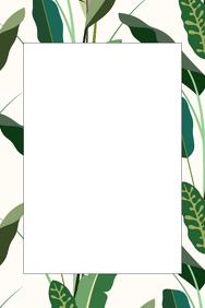 Leaf Party Prop Frame