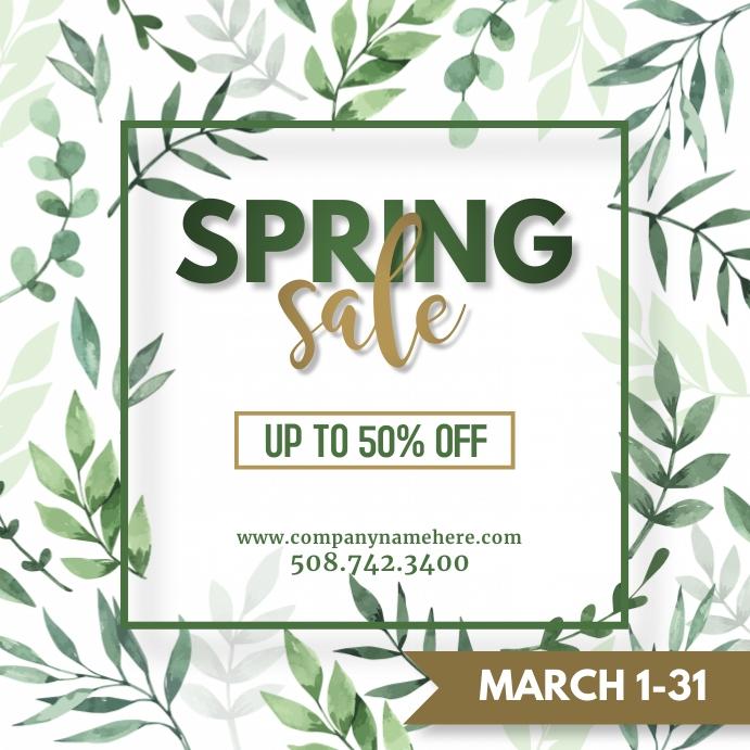 Leaf Spring Sale Instagram Post Template Instagram-opslag