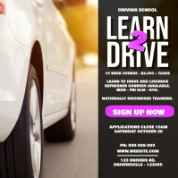 Learn 2 Drive Poster Wpis na Instagrama template