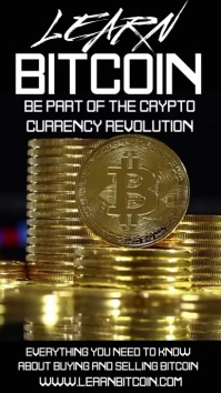 Learn Bitcoin Video Ad Template Digital Display (9:16)
