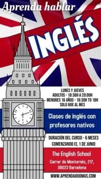 Learn English Aprenda Inglés Curso Video Digital Display (9:16) template