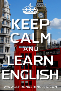 Keep Calm and Learn English Poster Template