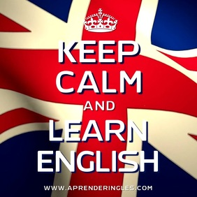 Keep Calm and Learn English Video Template
