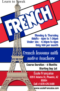 Learn French Flyer Template