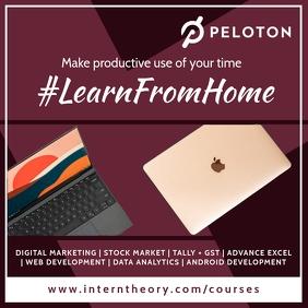 Learn From Home Classes Template Quadrado (1:1)
