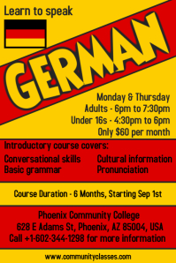 Learn German Language Flyer Poster Template