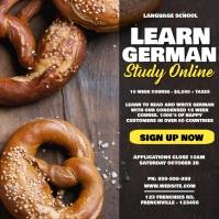 Learn German Online Learning Poster Iphosti le-Instagram template