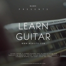 Learn Guitar Poster