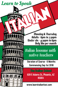 Learn Italian Flyer Template