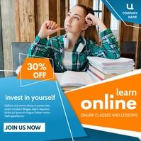 learn online instagram post classes advertise Instagram-bericht template