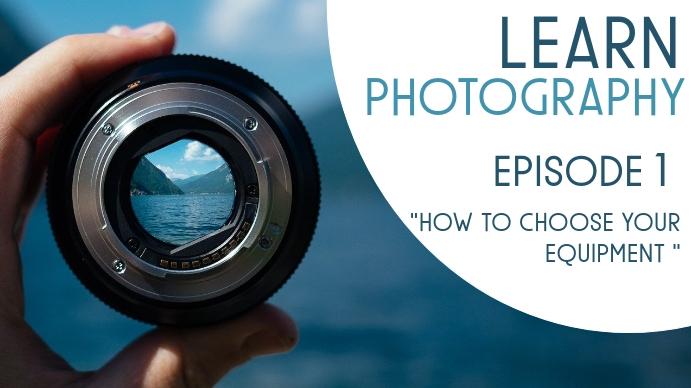 learn photography Thumbnail sa YouTube template