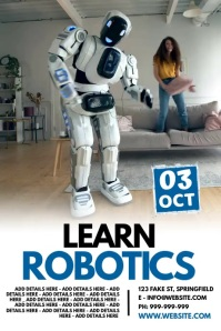 Learn Robotics Poster template