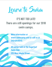 Learn to swim flyer template