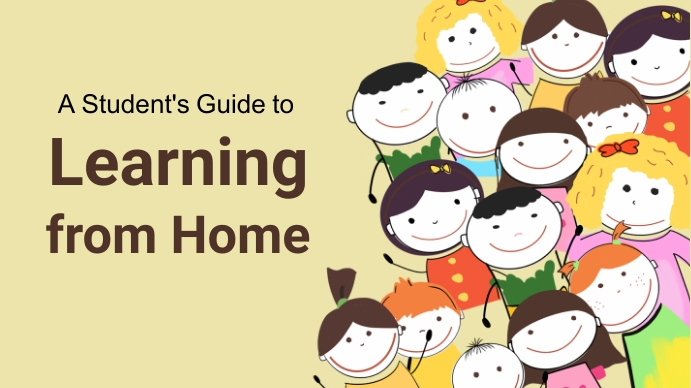 Learning from home,online learning 演示(16:9) template