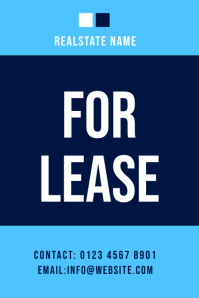 lease real estate flyer