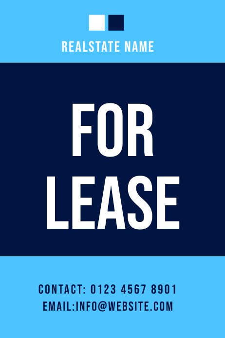 lease real estate flyer Banner 4 x 6 fod template