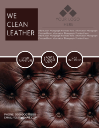 Leather Flyer Template