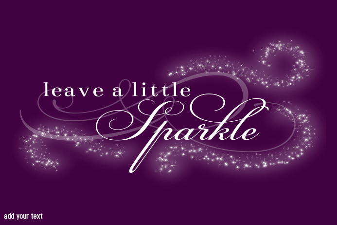 Leave a little Sparkle Gift Print Little Girl Room Sign