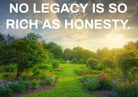LEGACY AND HONESTY QUOTE TEMPLATE A6