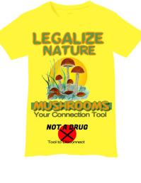 Legalize Mushroom Tshirt Design