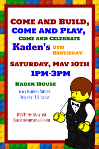 Lego Birthday Party Flyer