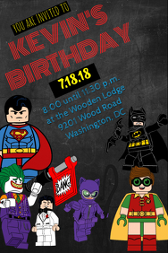 customizable design templates for lego batman postermywall
