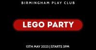 Lego Party Event Video Ad Изображение, которым поделились на Facebook template