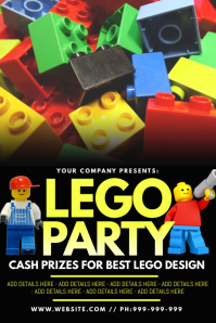 Lego Party Poster